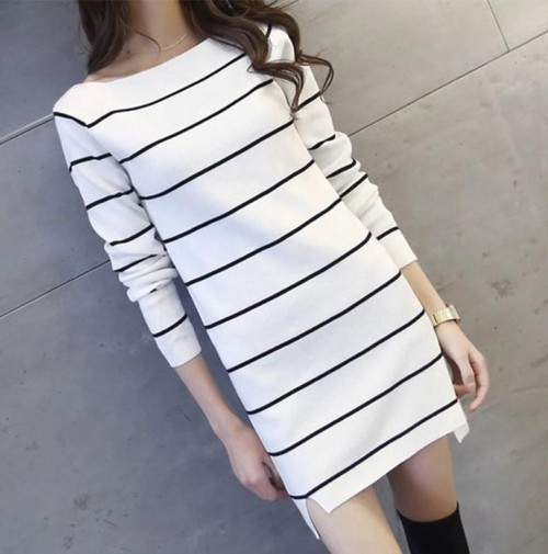 I am looking for monotone striped shift similar dress - SeenIt