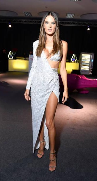 Yay or Nay? Alessandra Ambrosio attends amfAR Gala Milano wearing a slitted cut out gown during the Milan fashion week - SeenIt