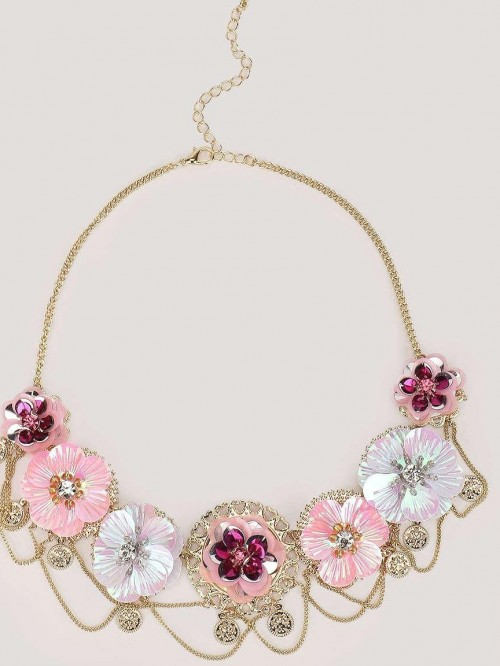 Im looking for this floral necklace. Where can I buy this from? - SeenIt