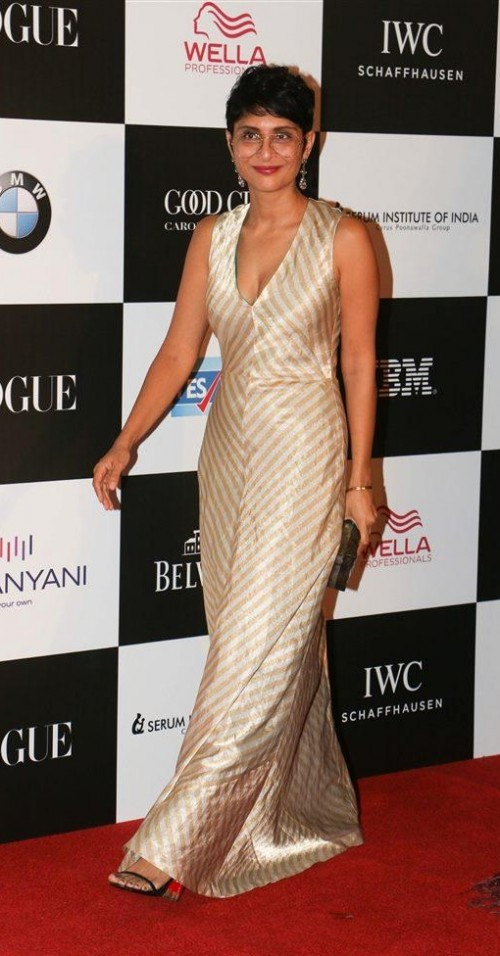 Yay or Nay? Kiran Rao wearing a v neck gown at the Vogue Women of the year awards last night - SeenIt