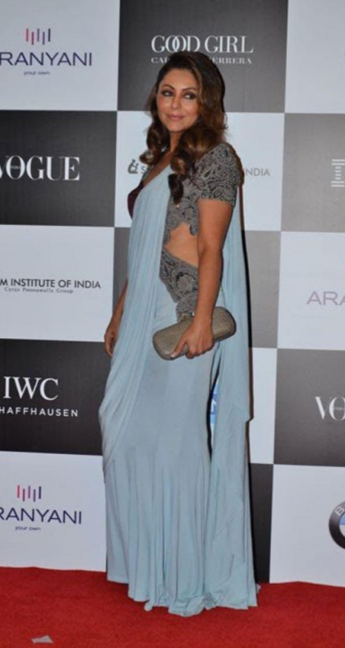 Yay or Nay? Gauri Khan wearing a grey drape saree at the Vogue Women of the Year awards last night - SeenIt