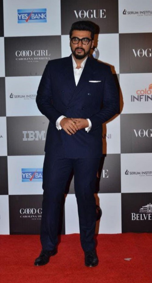 Yay or Nay? Arjun Kapoor wearing a double breasted suit at the Vogue Women of the Year awards last night - SeenIt