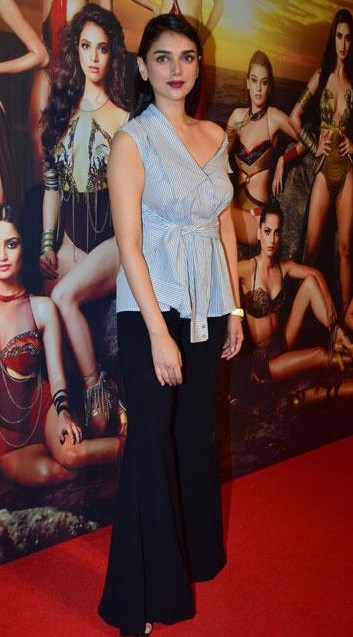 Looking for this blue striped top and black bell bottoms that Aditi Rao Hydari is wearing - SeenIt