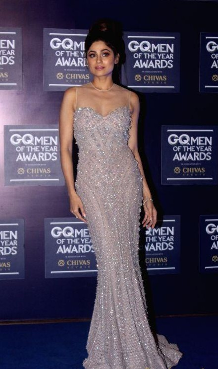 Yay or Nay? Shamita Shetty wearing a silver embellished gown at the GQ Men of the year awards 2017 - SeenIt