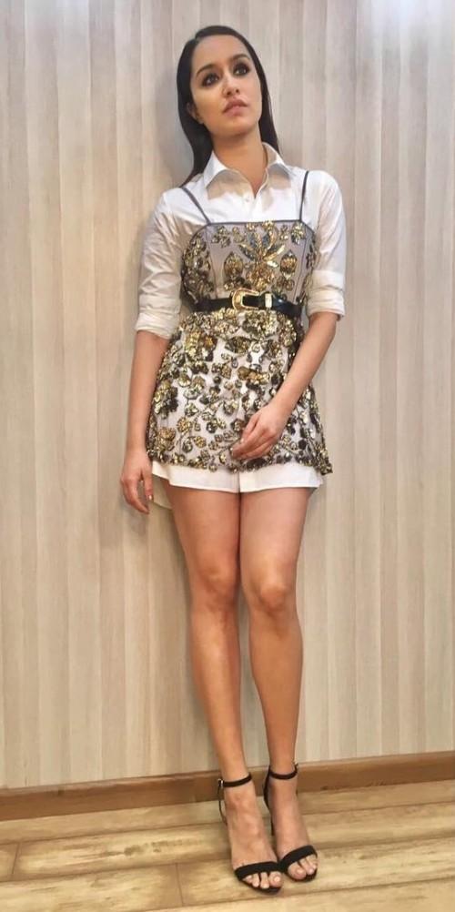 Yay or Nay? Shraddha Kapoor wearing a Manish Malhotra short dress at the Ambani bash held in Mumbai - SeenIt