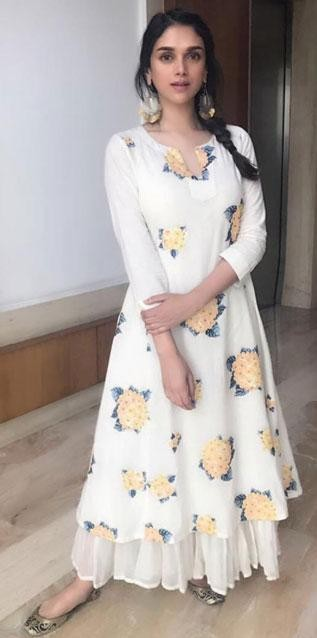 I'm looking for same white floral print dress which Aditi Rao Hyadri is wearing for Bhoomi promotions - SeenIt