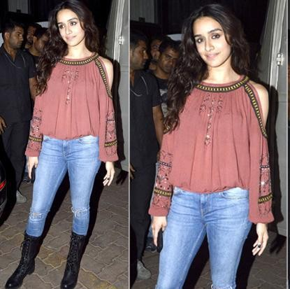 I m looking same outfit , the light blue denims , cold shoulder top and boots - SeenIt