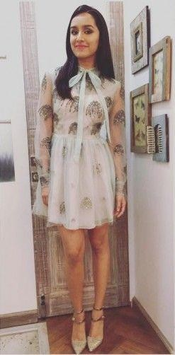 looking for similar white collar embellished dress as shraddha is wearing - SeenIt