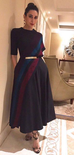 Yay or Nay? Karisma Kapoor spotted wearing an Urvashi Joneja outfit in Mumbai recently - SeenIt