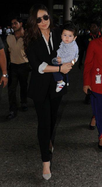 Need a similar black blazer and pants like Kareena Kapoor was spotted wearing at the airport recently - SeenIt