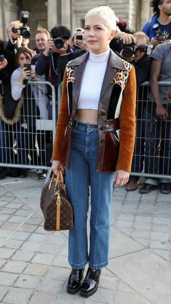 Yay or Nay? Michelle Williams attends the Louis Vuitton show during the Paris Fashion Week - SeenIt