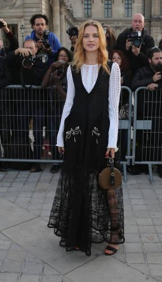 Yay or Nay? Natalia Vodianova attends the Louis Vuitton show during the Paris Fashion Week - SeenIt