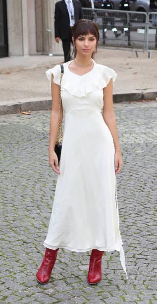 Yay or Nay? Emily Ratajkowski attends the Miu Miu show during the Paris Fashion Week - SeenIt