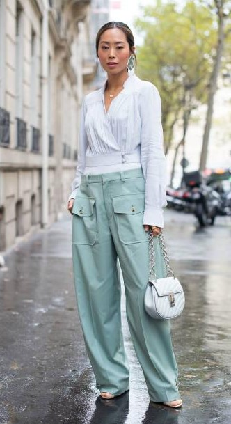 Yay or Nay? Aimee Song wearing Chloe after the Chloe show at the Maison Chloe during Paris Fashion Week - SeenIt