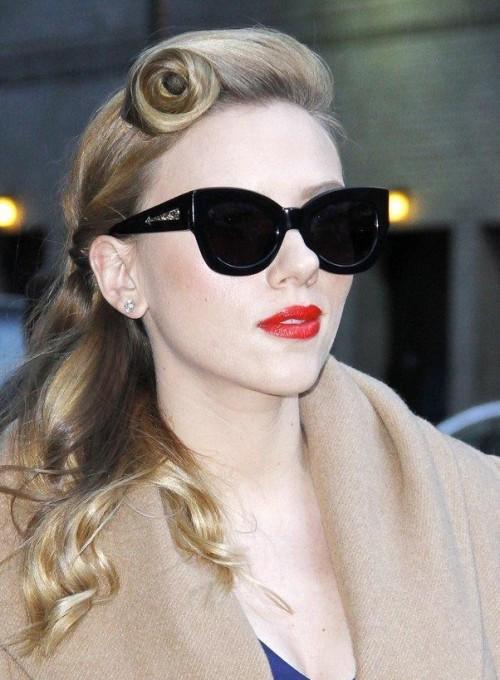 3c6b81d684 Looking for the black cat eye sunglasses that Scarlett Johansson is wearing  - SeenIt
