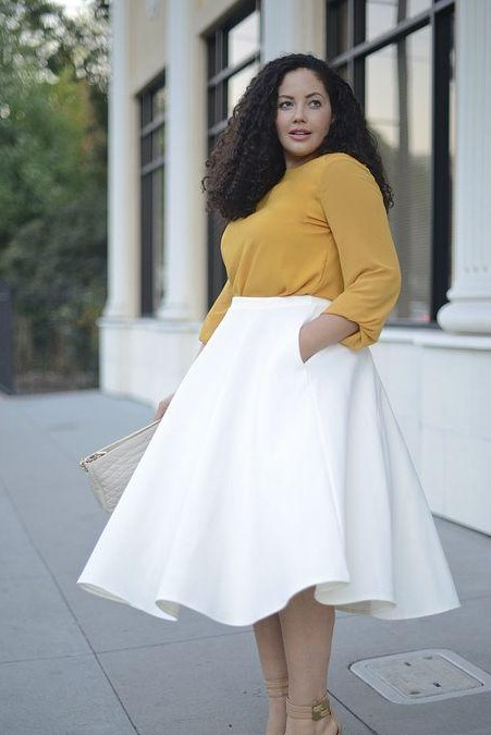 Want a white pleated midi skirt - SeenIt