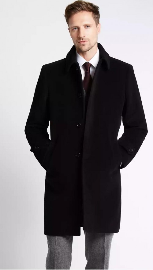 looking for a black overcoat like this one - SeenIt