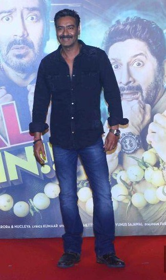looking for a similar black shirt and blue denims like Ajay Devgn is wearing at the trailer launch of Golmaal Again - SeenIt