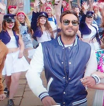 looking for a similar blue and white bomber jacket online like ajay devgn is wearing in the song