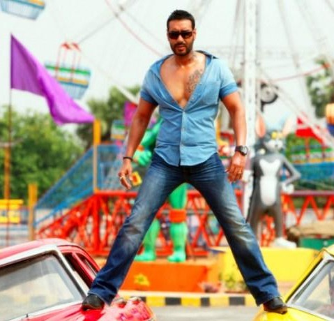 Looking for a similar blue shirt online like Ajay Devgn is wearing in the movie Golmaal Again - SeenIt