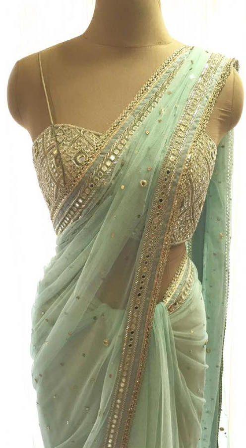 Want this mint green saree - SeenIt