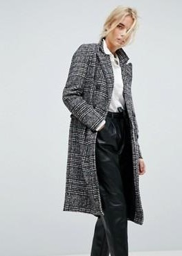 Help me find a checked coat like this one - SeenIt