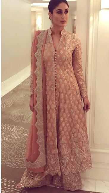 Yay or Nay? Kareena Kapoor spotted wearing a Faraz Manan embroidered ethnic outfit in Dubai recently - SeenIt