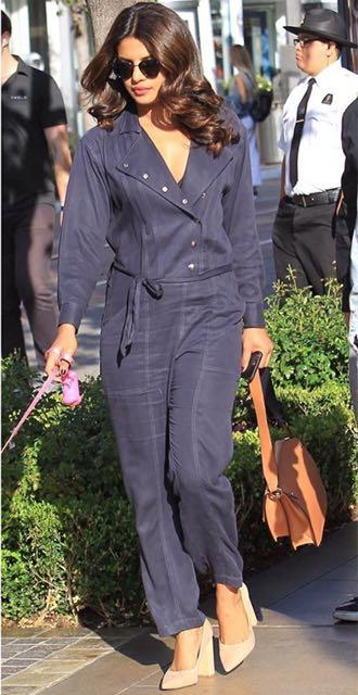 Yay or Nay? Priyanka Chopra spotted wearing a blue blazer style jumpsuit recently - SeenIt