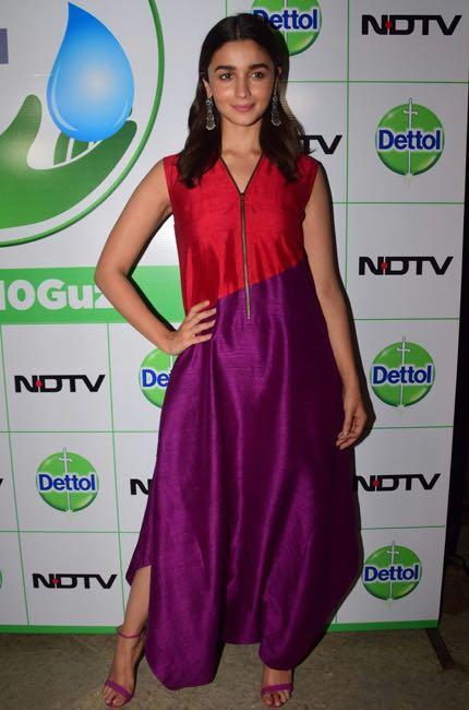 65ab9b8dbc Alia Bhatt spotted wearing a colorblock dress by Payal Khandwala in Mumbai
