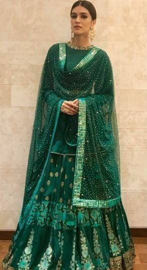 looking for a similar lehenga with same colour and type which Kriti Sanon is wearing \ - SeenIt