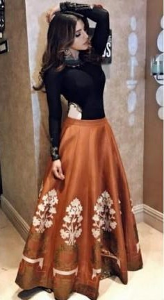 looking for this or something similar to the lehenga which Shama Sikander is wearing - SeenIt