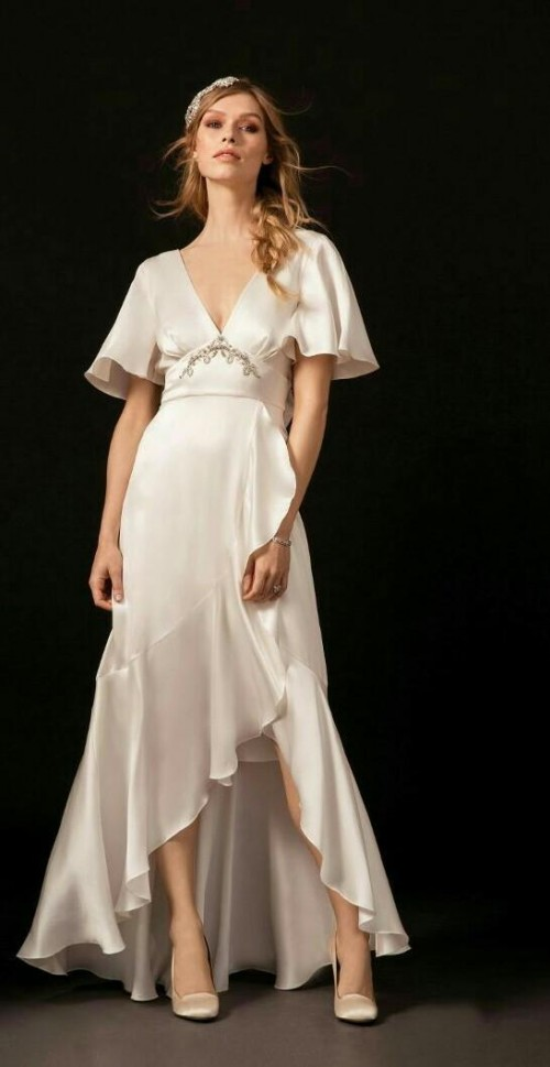 Looking for a similar white asymmetric dress. - SeenIt