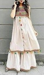 Want a similar embroidered kurti and white palazzos - SeenIt