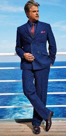 help me find out a similar striped suit,brown shoes and a maroon tie as the one Anil Kapoor is wearing - SeenIt