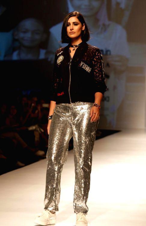 Yay or Nay? Nargis Fakhri walks the ramp for Rimzim Dadu at the Amazon Fashion Week - SeenIt