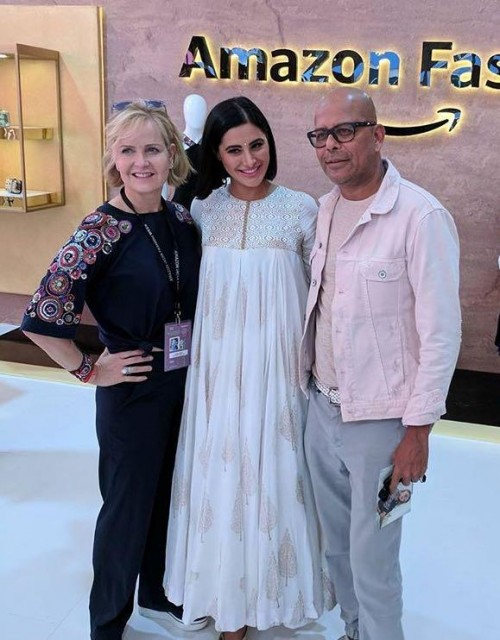 Yay or Nay? Nargis Fakhri arrives in an off white ethnic attire at the Amazon Fashion Week - SeenIt