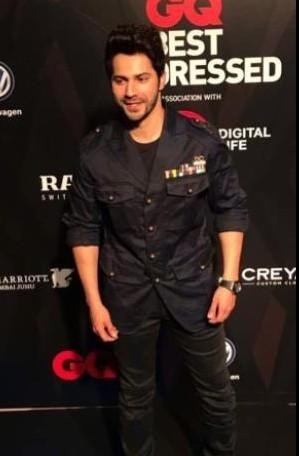 I am looking for similar navy jacket which Varun Dhawan is wearing at the GQ best dressed awards - SeenIt