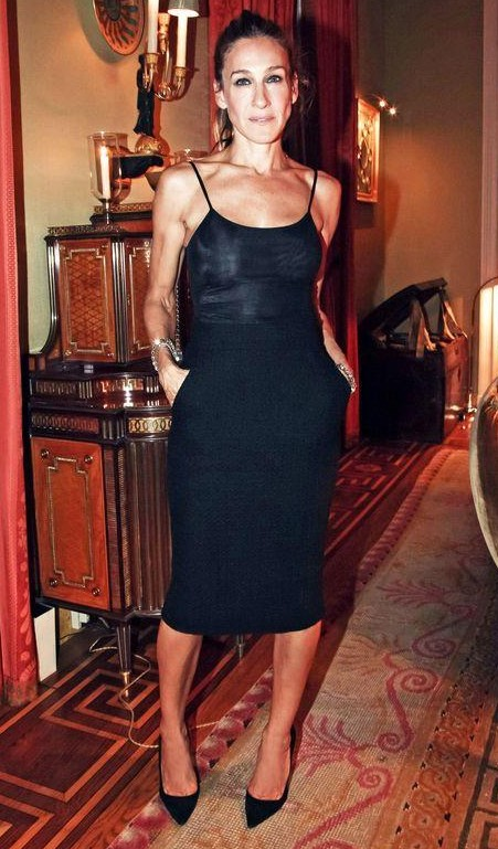 help me find a similar dress and heels which Sarah Jessica Parker is wearing - SeenIt