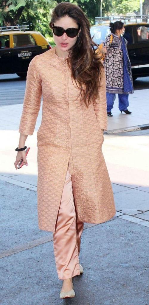 Want a similar textured salwar kameez like the one which Kareena Kapoor is wearing - SeenIt