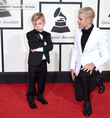 Justin Beiber got the cutest date ever. His six year old baby brother Jaxon. - SeenIt