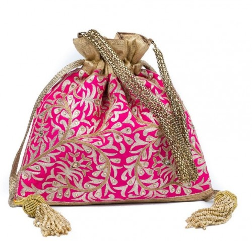 looking for a similar potli bag in pink! - SeenIt