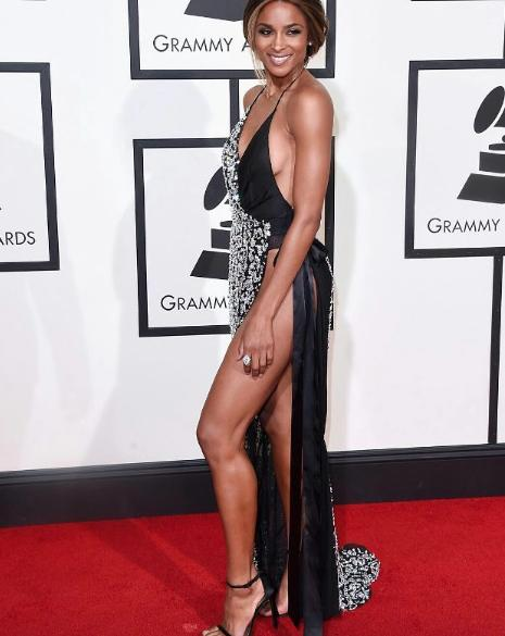 with a body like that Ciara flaunts it at the red carpet like it was nobody's business. - SeenIt