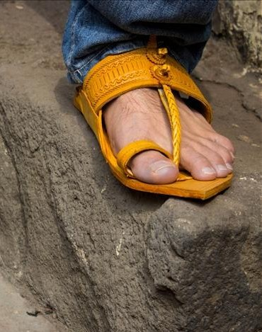Looking for this yellow kolhapuri chappal - SeenIt