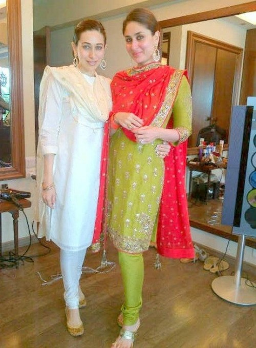 Want this green and red salwar kameez which Kareena Kapoor is wearing - SeenIt