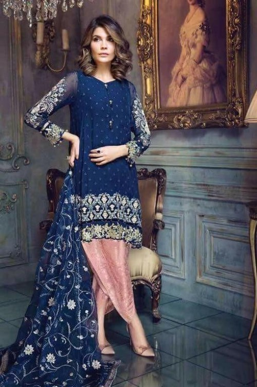 Want this blue embroidered salwar kameez - SeenIt