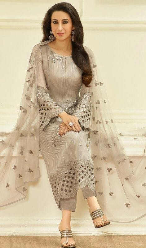 Want this grey salwar kameez which Karisma Kapoor is wearing - SeenIt