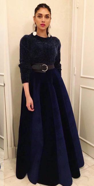 Looking for a similar velvet gown like Aditi Rai Hydari is seen wearing recently - SeenIt
