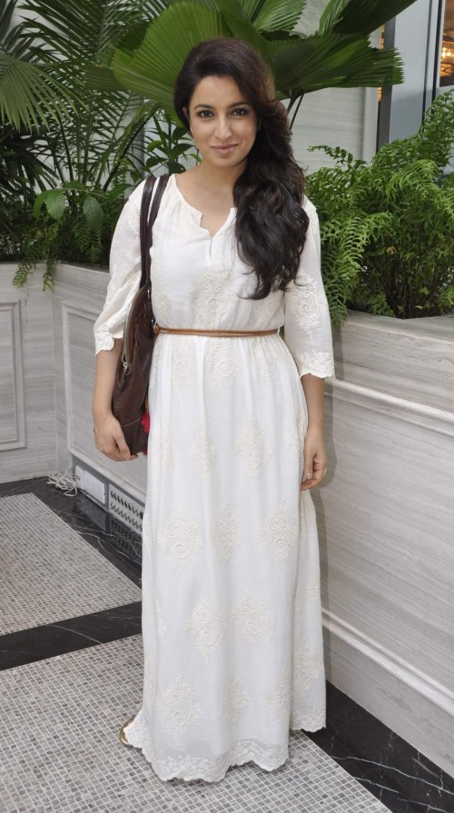 Looking for a similar white maxi dress that Tisca Chopra is wearing - SeenIt