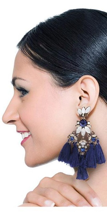 Want this blue tassel earring - SeenIt
