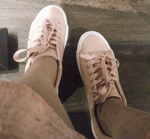 Looking for similar beige/baby pink sneakers - SeenIt